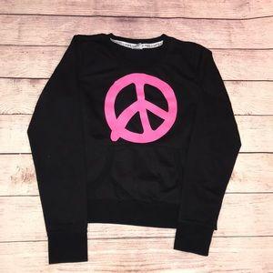 Victoria's Secret fleece peace sweat shirt l large